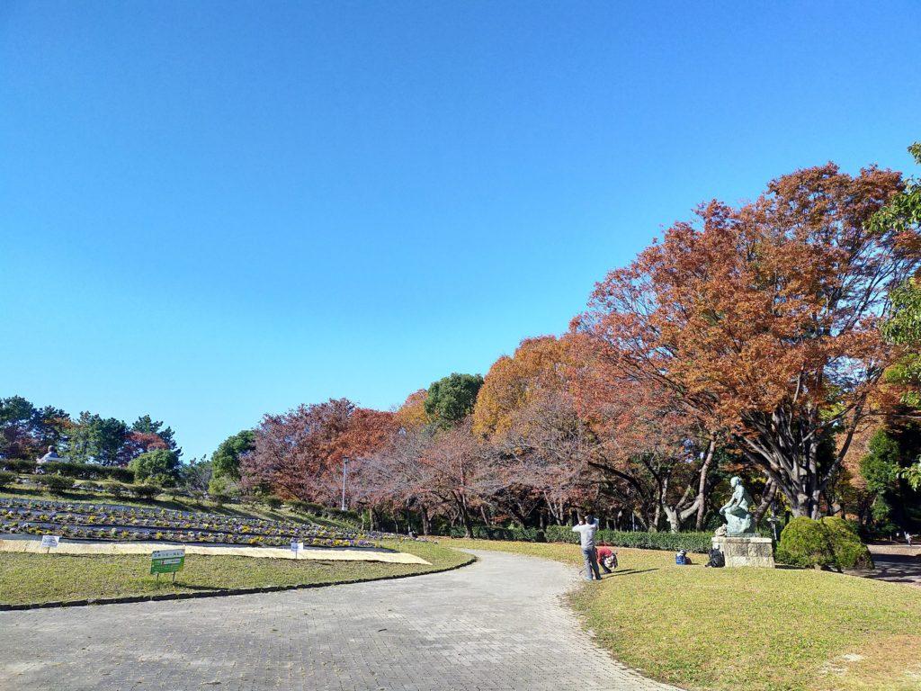 名城公園の紅葉 快晴